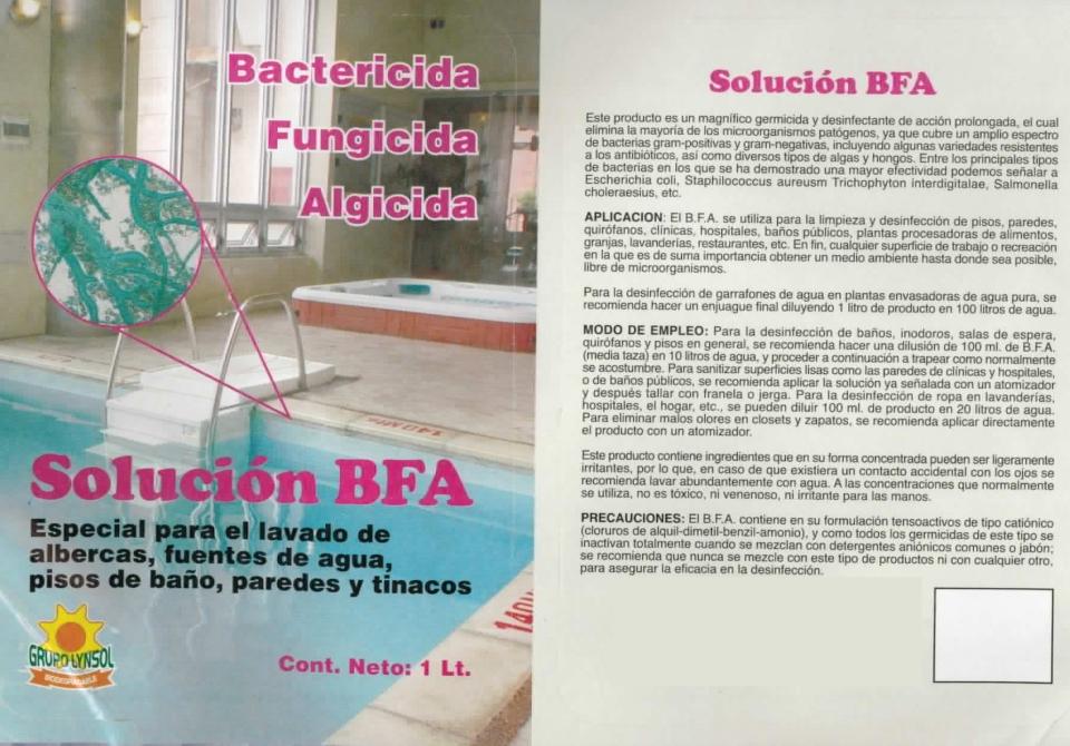 BACTERICIDA FUNGICIDA ALGICIDA