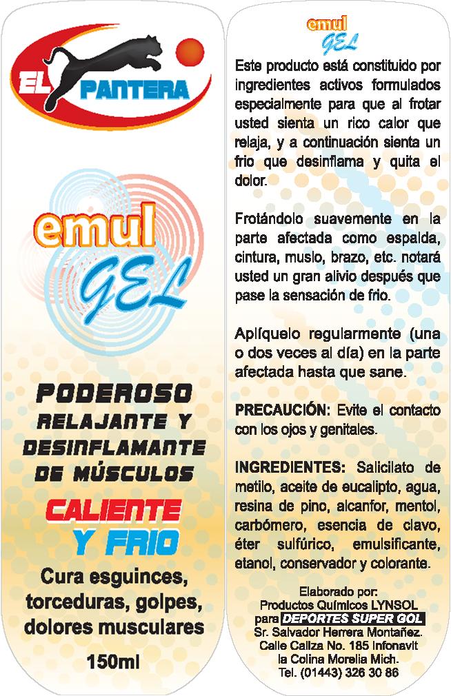 EL PANTERA EMUL GEL