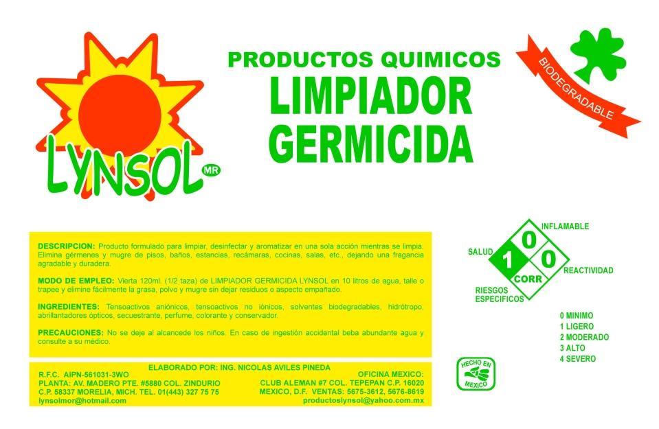 LIMPIADOR GERMICIDA