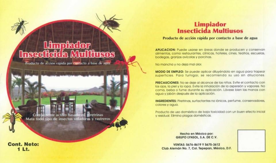 LIMPIADOR INSECTICIDAS