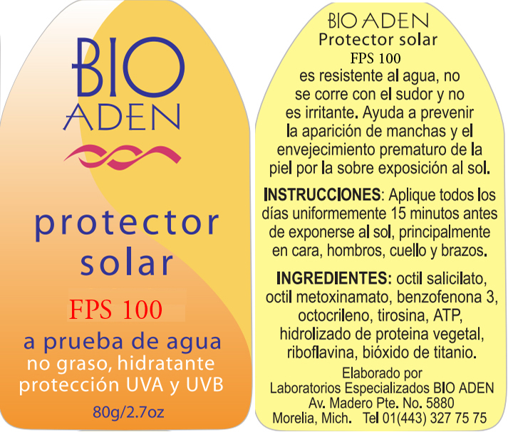 PROTECTOR SOLAR FPS 100