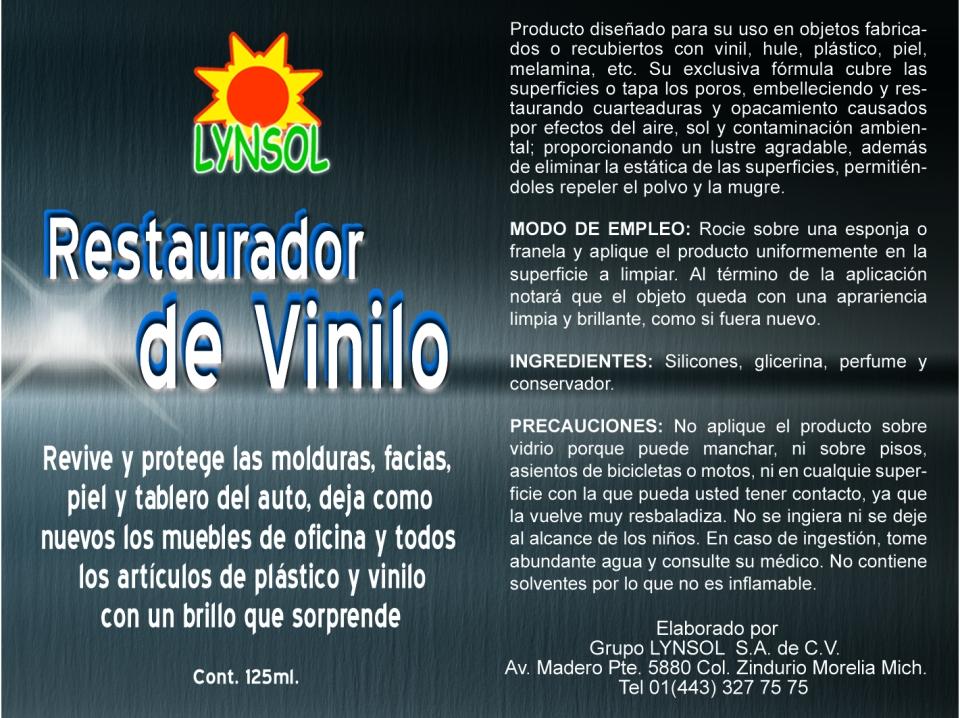 RESTAURADOR DE VINILO