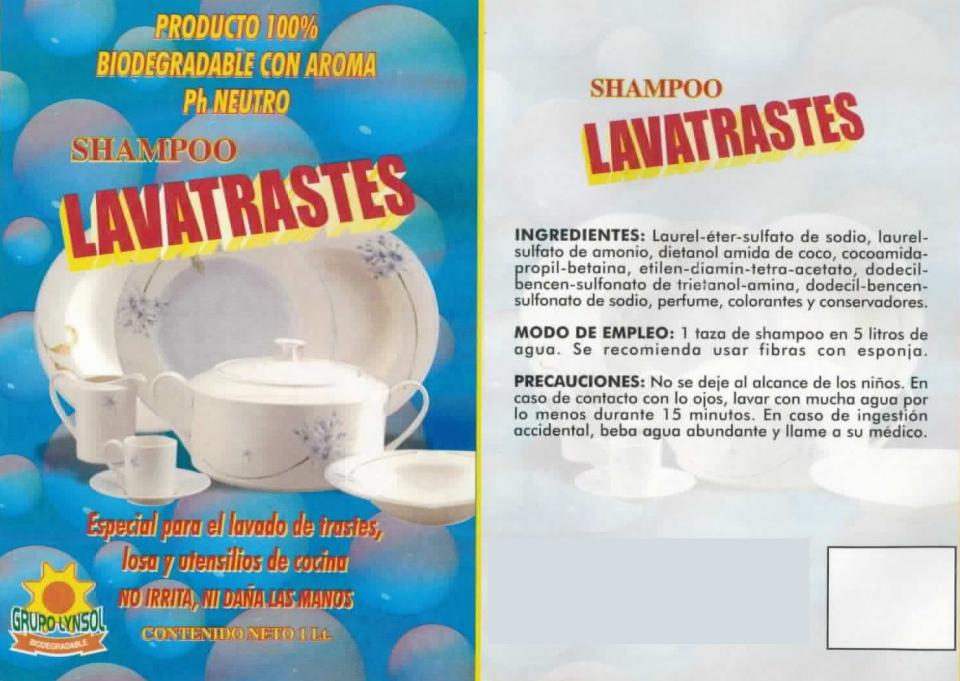 SHAMPOO LAVATRASTES